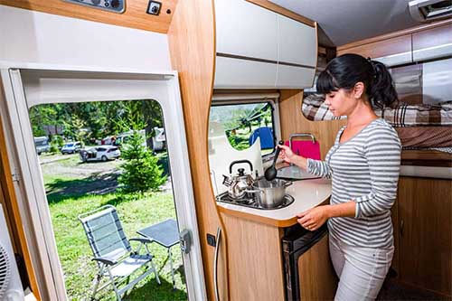 Space Saver Storage Containers For RV Kitchen
